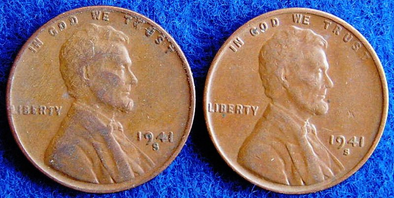 1928-S, 1941-S Lg/Sm S Wheat Penny - Coin Community Forum