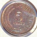 1972 singapore 5 cent