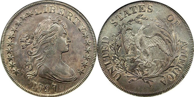 1795 1804 Draped Bust Silver Dollar 1797 Draped Bust