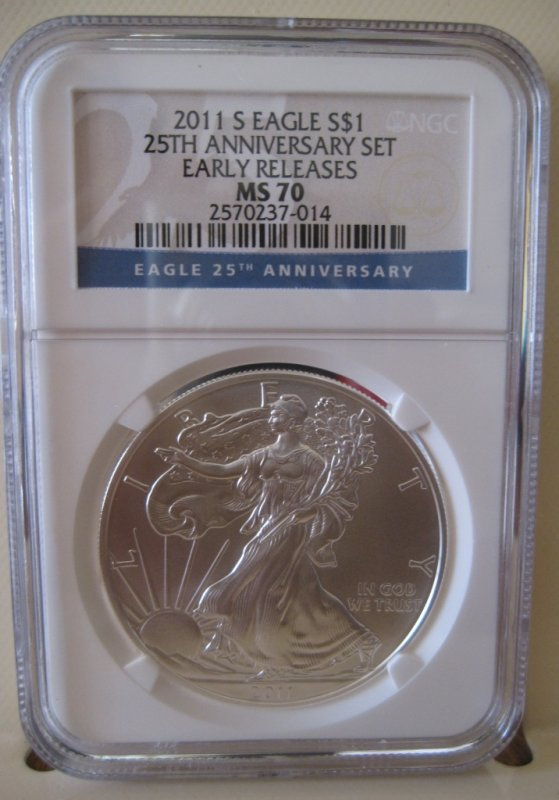 2011 S NGC MS70 ER ( 25TH ANNIVERSARY SET)