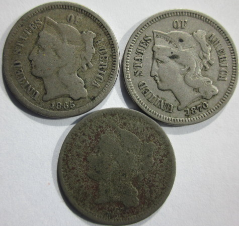 3 Cent Nickel Lot