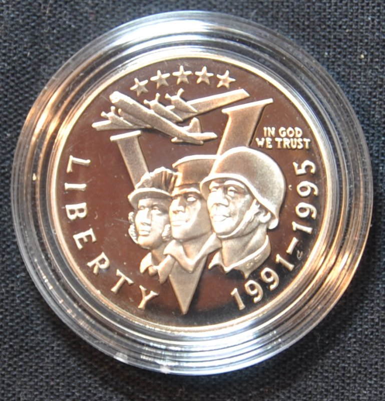 1991-1995 WWII 50th Anniversary Proof Half Dollar