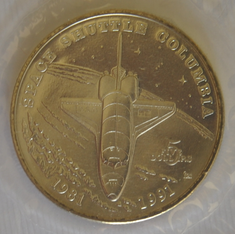 Space Shuttle Columbia 5 Commemorative Coin Auction At
