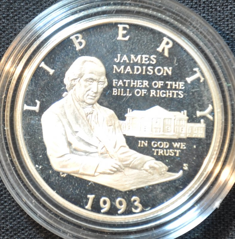 1993 S Silver Bill of Rights Proof Commemorative
