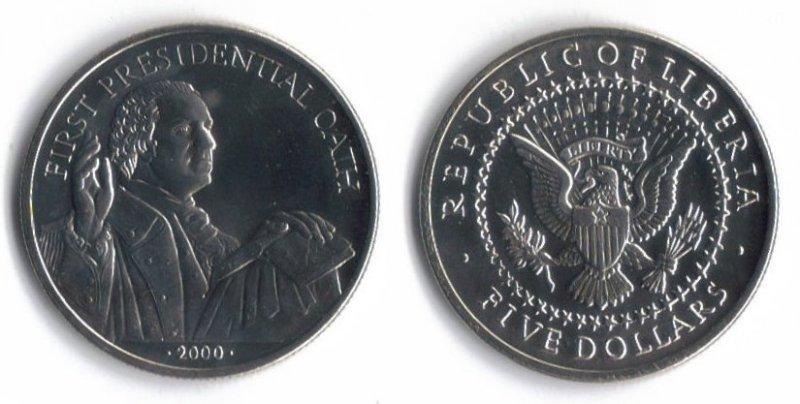 2000 5 Republic Of Liberia Usa